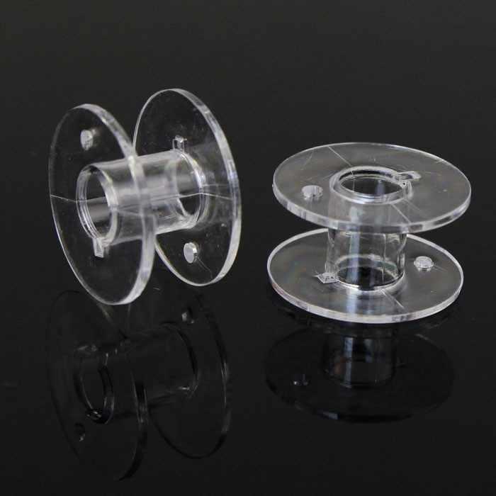 Veel 10 Clear Plastic Spoelen Voor Brother Janome Singer Naaimachine naaimachine accessoires acessorios para costura * 0918