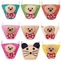 Women Coin Purse,Cute Bear Purse Bag Kawaii Mouse, Ladies Wallets Straw Handbags Coin Bag Key Holder Small Women Bags Colorful