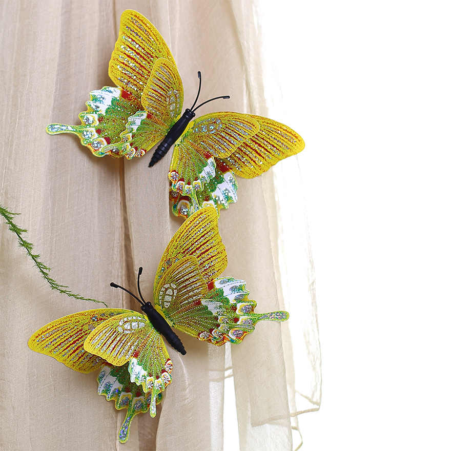 The butterfly brooch curtain decoration butterfly suction type decorative Butterfly Glass Tiles