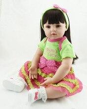 55cm New Vinyl Reborn Baby Doll Toys Lifelike Handmade Baby Dolls Baby Home Doll Play House Juguetes Brinquedos