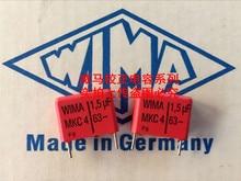 2019 hot sale 10pcs20pcs German capacitor WIMA MKC4 63V 15UF 63V 155 1U5 P 15mm Audio capacitor free shipping