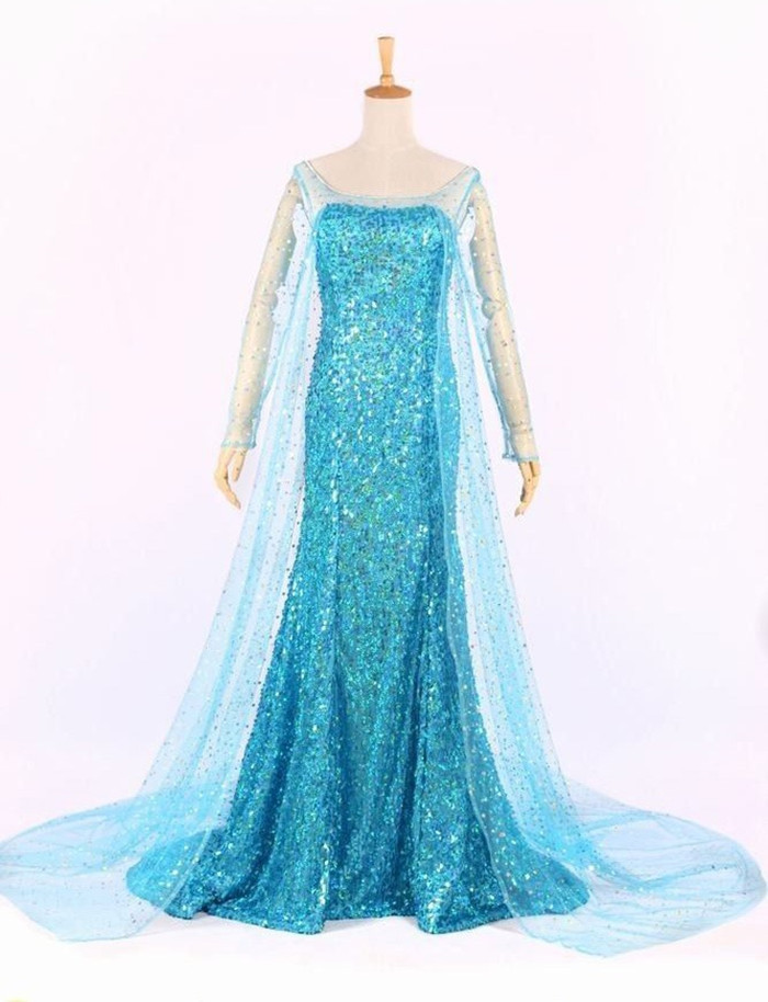 Elsa Cosplay Costume Elsa Dress Cosplay Halloween Carnival Christmas Party Women Princess Dress