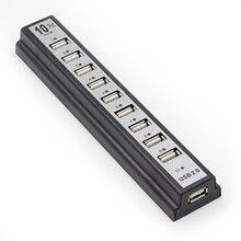 10 портов USB 2,0 хабы с питанием от переменного тока, периферийные устройства, адаптер питания для портативных ПК для Windows 98SE/ME/2000/XP