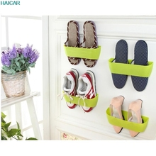 Hanging Wall Shoes Rack Door Wall Mounted Vertical DIY Storage Rack  Bathroom Shoe Rack Levert Dropship Mar20