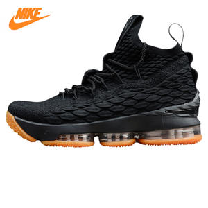 reputable site b4cde a456e Nike LeBron 15 Men Basketball Shoes Black Shock Resistant Shock Absorbing  Breathable