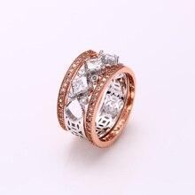 Xuping anillo de moda Multicolor chapado en oro sintética CZ estilo europeo de calidad superior doble marca de la boda regalo de Jewelery S23-12314