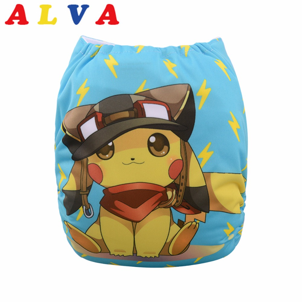 Alvababy 2019 New Designed Resauble Cloth Diaper with 1pc Microfiber Insert YD64