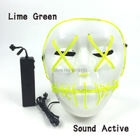 Holiday Lighting 10 Colors EL Cold Light Halloween Dance Mask Masquerade Neon Led Festival Vampire Mask