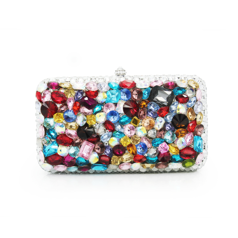 Best Price Diamond Evening bag High Grade Full Rhinestone Dinner Bag/Clutch Purse/Bridal Wedding Bag Colorful Handbag(C1055-A) best price 5pin cable for outdoor printer
