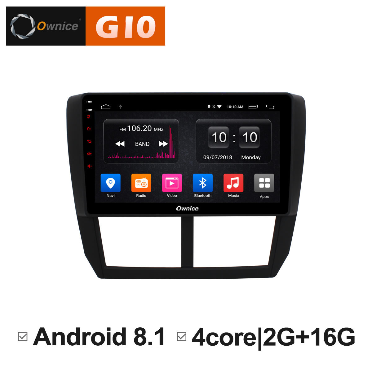 Ownice C500 + G10 Octa 8 Core Android 8.1 2g RAM Voiture DVD GPS Navi Lecteur Radio Pour Subaru forester XV WRX 2008 2009-2012 DAB +