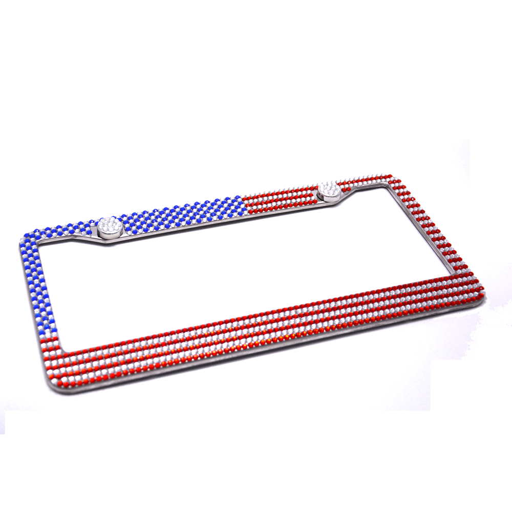 USA Flagge Bling Reine Handgemachte Wasserdichte Kennzeichen Rahmen ...
