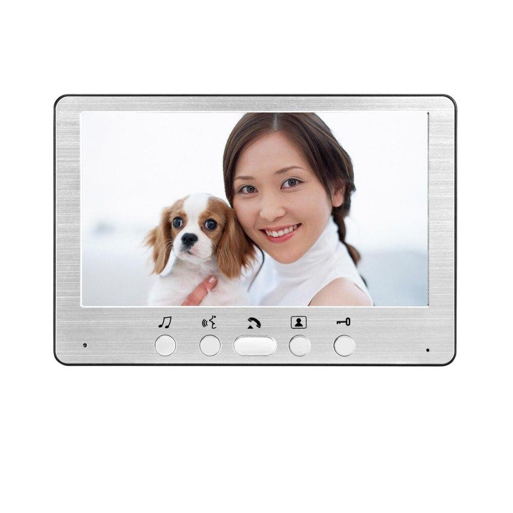 "Image 3 - Rfid Keyboard Video Intercom Home Video Door Phone IP55 Waterproof Camera Color Monitor 7"" Video Door Bell Kit-in Video Intercom from Security & Protection"