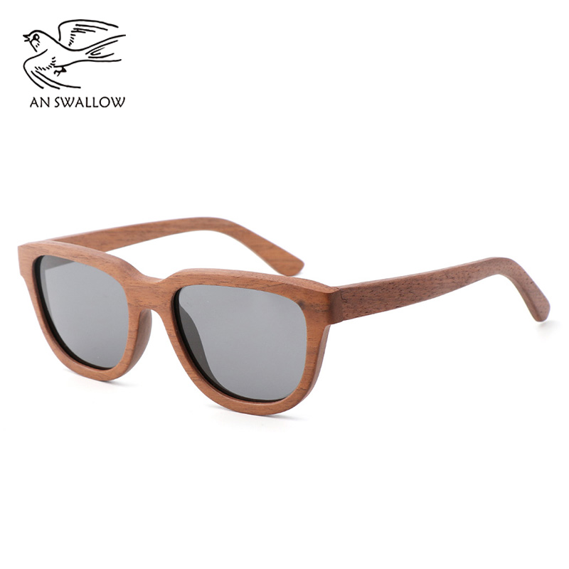 NewBambooand Wood Glasses Black Walnut Retro Wood SunglassesCoated TAC Lens UV400 Anti ultraviolet Polarization Men 39 s Sunglasses in Men 39 s Sunglasses from Apparel Accessories