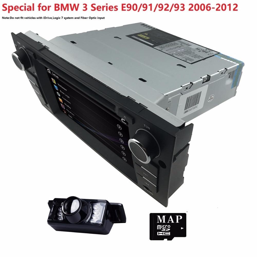 Car DVD Navigation for BMW E90 E91 E92 E93 GPS 3G Bluetooth Radio USB SD Canbus Free Rear Camera+8GB map with SWC RDS AM/FM USB