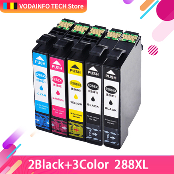 QSYRAINBOW совместимый чернильный картридж для Epson 288 288XL (1 черный, 1 голубой, 1 пурпурный, 1 желтый) 5-Pack для принтера XP-330 XP-434