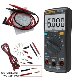 Professional Digital Multimeter AN8001 LCD Display Digital Multimeter 6000 Counts AC/DC Ammeter Voltmeter Ohm Meter Tester