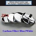 20pcs 68MM Car Wheel Center Cover Emblems x1 x3  x5 x6 M2 M3 M5 M6 e36 e46 e90 e92 e93  Auto Wheel Hub Cap Carbon Blue/White