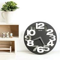 Large 3D Wall Clock Digital Decorative Wall Clock Modern Design Black White Big Silent Wall Clocks Home Decor Novelty Hollow