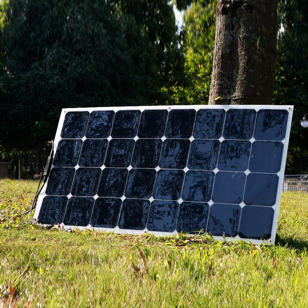 Купить на aliexpress XINPUGUANG 100 Вт 18 в или 16 В гибкий эффективный модуль солнечной панели караван camper Monocrystalline painel солнечное зарядное устройство 12 В