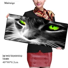 New Arrival Cute Cat Eyes Locking Edge Rubber Mice Mat PC Computer Laptop Gaming Large Mouse Pad Play Mousepad Six Sizes