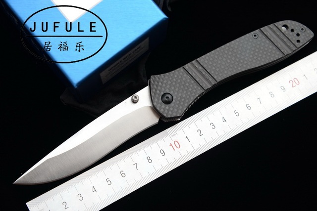 JUFULE BenchMaKe 710 carbon fiber S90v Axis folding Copper washer hunting camping Pocket outdoor Survival EDC Tool kitchen knife