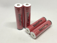 New MasterFire Wholesale Original Protected 18650 3.7V Li ion Rechargeable Battery 2600mAh Cell Batteries with PCB For Sanyo