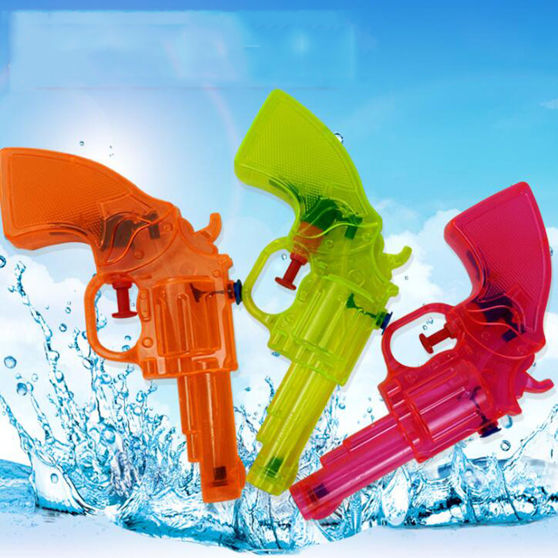 Children's Summer Water Spray Toy Mini Water Gun Transparent Water Gun Outdoor Parent-Child Interactive Game Beach Water Toys