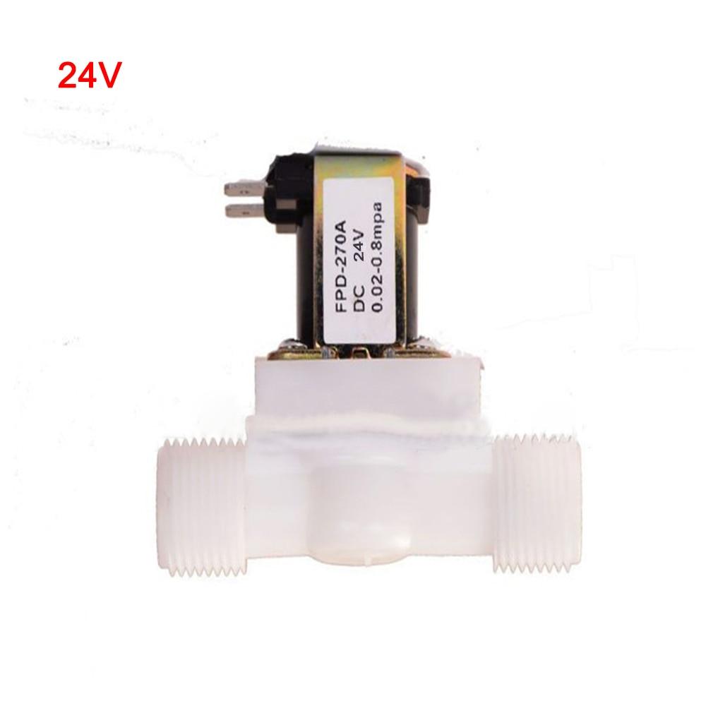 "1//2/"" Electric Solenoid Valve For Water N//C Normally Closed DC12V DC24V AC220V"