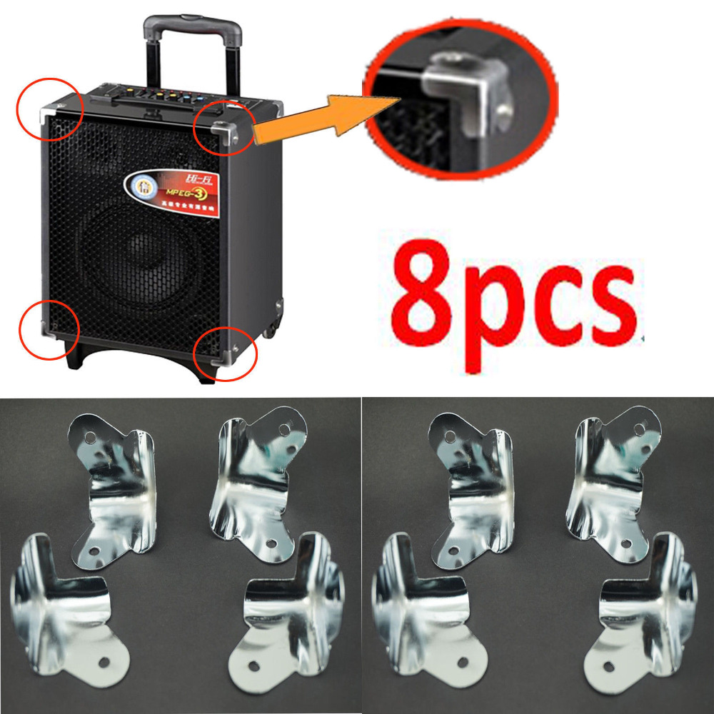Tool Parts 8pcs/lot *chrome Metal* Corner Speaker Cabinet Box Guitar Amp Amplifier Protectors 100% Guarantee