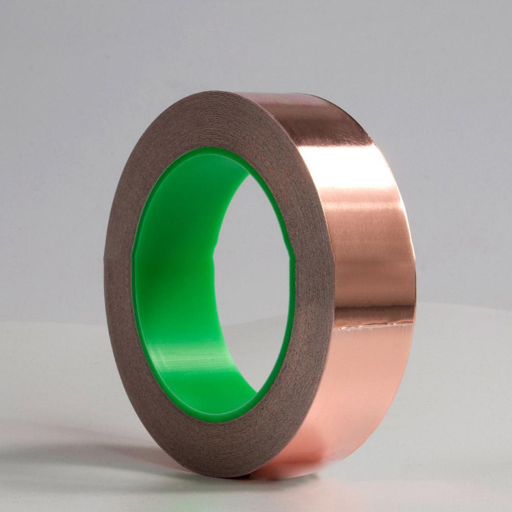 3mm Wide20m Long Double Guide Copper Foil Tape  Conductive Adhesive For EMI Shielding Slug Repellent Paper Circuits Electrical