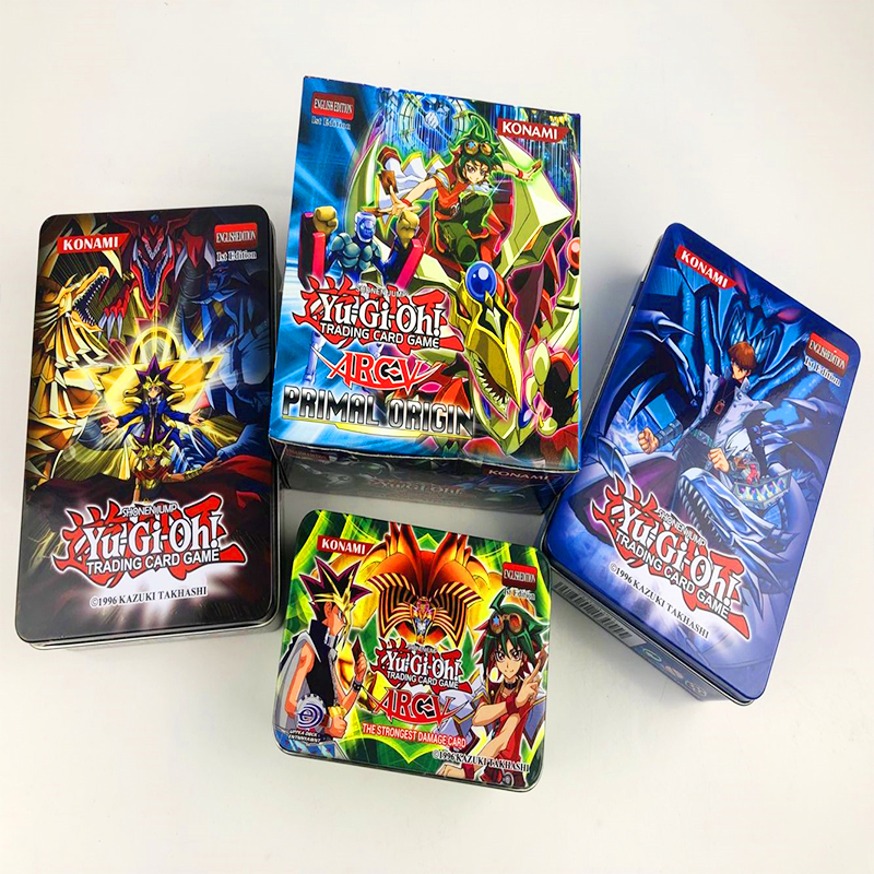 288pcs/set Yu-Gi-Oh Game Cards Classic Yu-Gi-Oh Game English Cards Carton Collection Cards With Flash Card And Metal Tin Box Toy