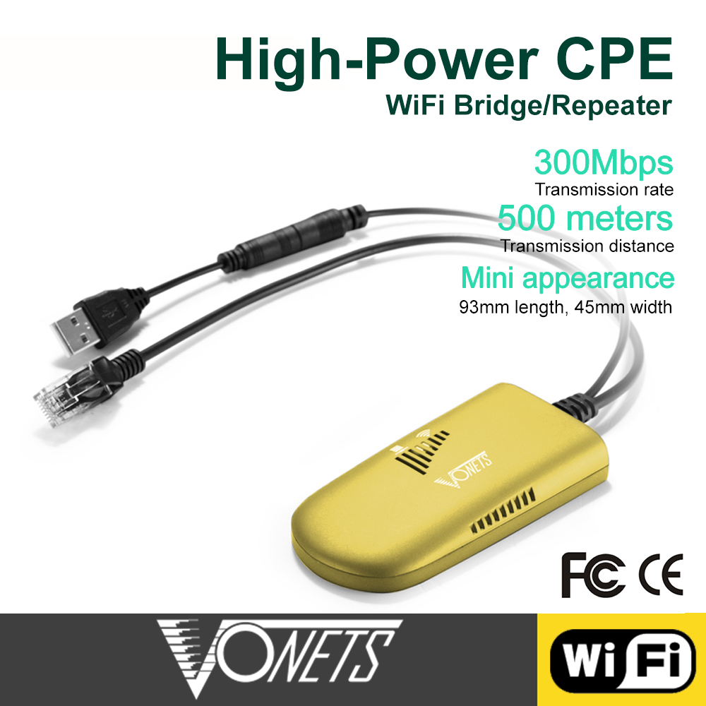 VONETS VAP11G-500 High Power Bridge WiFi Wireless To Wired Repeater For Data Transmission