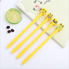 60Pcs/Lot Cute Funny Face Emoji Emoticon Gel Pen 0.5mm Black Ink Korean Stationery Office Material School Supplies Kids Gift