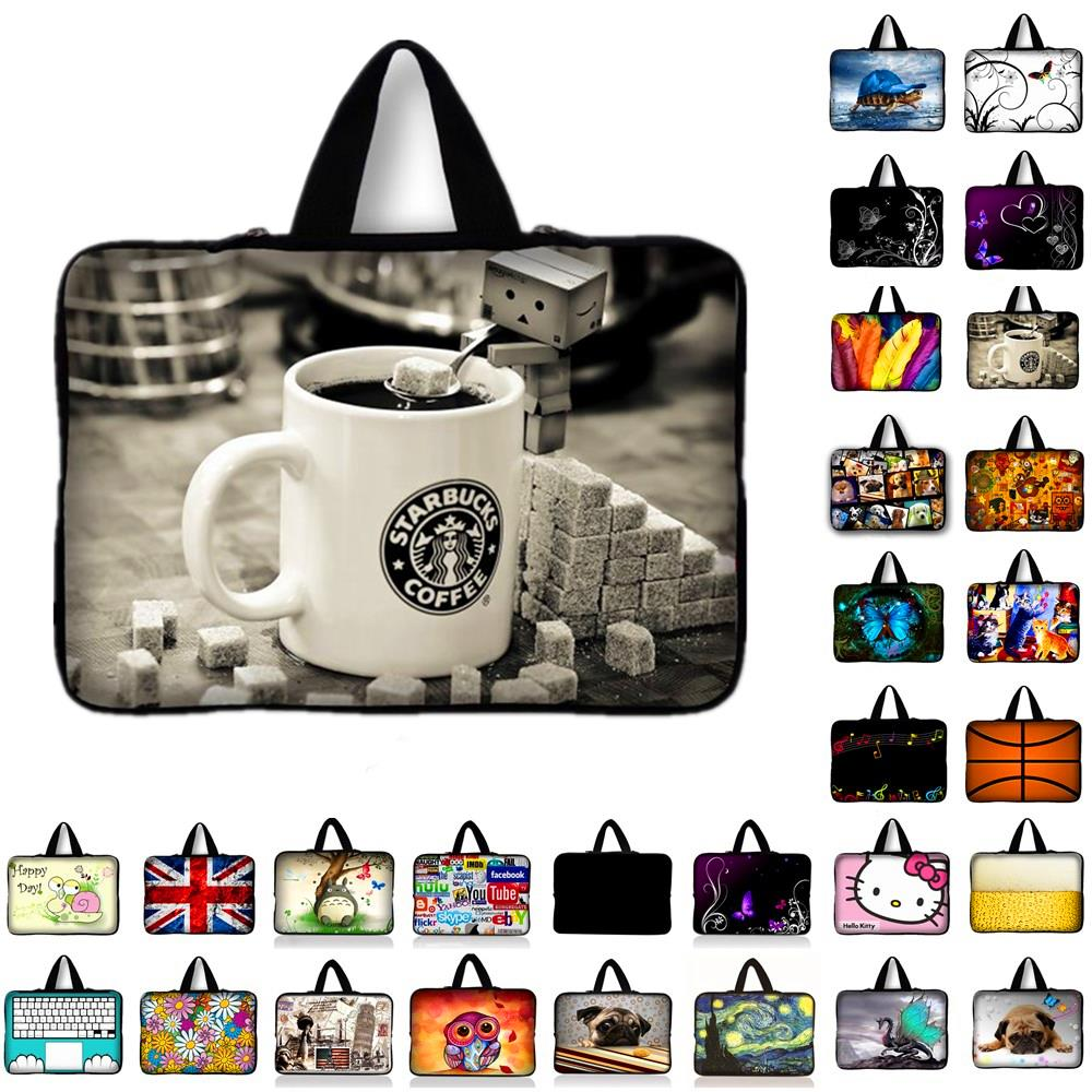 13.3 15.4 17.3 Cup Print Laptop Bag For MacBook Neoprene Pouch Cover Bags Tablet Case For HP Lenovo Asus Dell 7 10 12 14 15