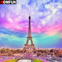 HOMFUN 5D DIY Diamond Painting Full Square/Round Drill Tower scenery 3D Embroidery Cross Stitch gift Home Decor A09984 homfun full square round drill 5d diy diamond painting tower scenery embroidery cross stitch 5d home decor gift