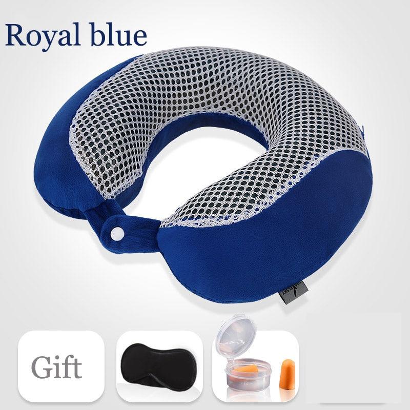 Nuevos accesorios de viaje Gel de malla Almohada en forma de U - Textiles para el hogar