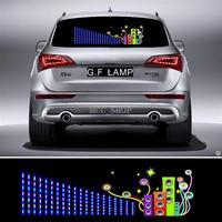 90*25 cm Suono lampeggiante Flash Car Sticker Musica Ritmo LED EL Sheet Luce Della Lampada Suono Musica Attivato Equalizzatore
