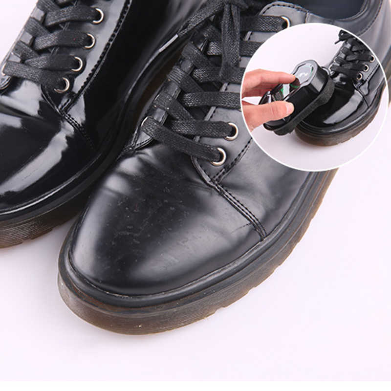Multifuncional dupla-face sapato polonês Incolor luz sapatos esfregar esponja cera de sapato óleo cuidados de couro