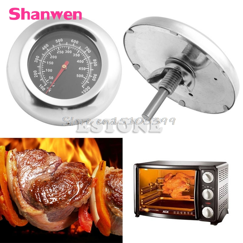 50-500 <font><b>Degree</b></font> BBQ Meat <font><b>Thermometer</b></font> Kitchen Oven Grill Temperature Gauge 100~<font><b>1000</b></font> Fahrenheit New G08 Whosale&DropShip image
