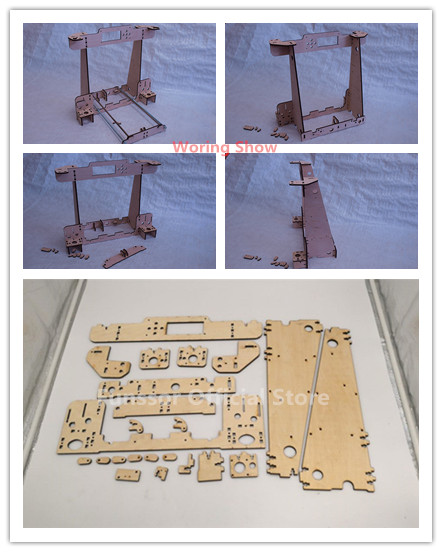 Funssor DIY Anet A8-Hesine M505-Tronxy 3D Printer clone Frame kit Laser Cut 6mm PlyWood plate