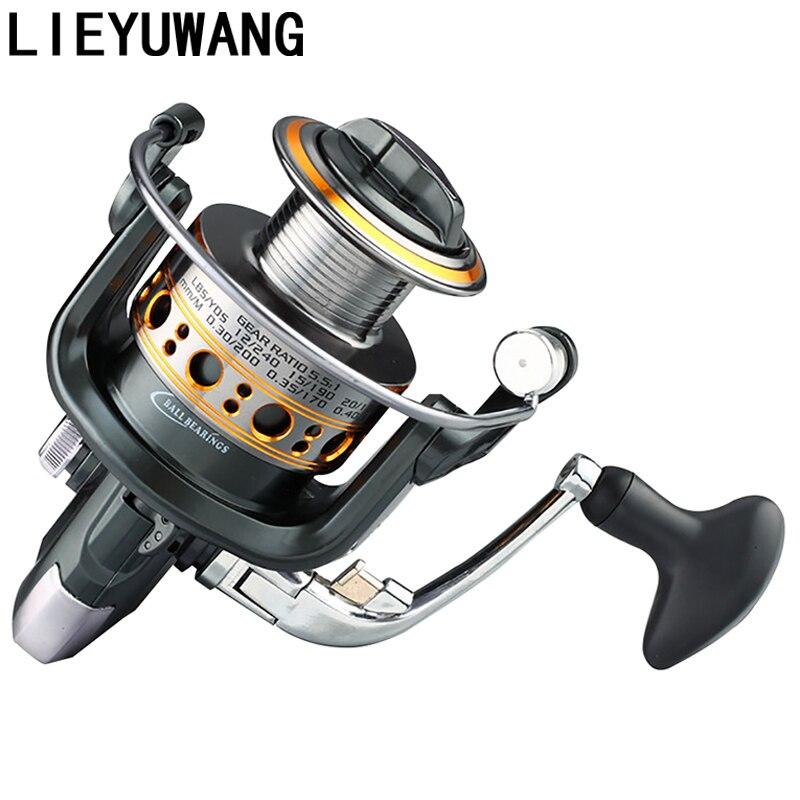 LIEYUWANG 12 + 1BB Relação de Velocidade 4.7: 1-5.5: 1 Carretel de Pesca de Metal Roda Girando Carretel de Pesca De Água Salgada Bobinas Bobina 1000-7000 Series