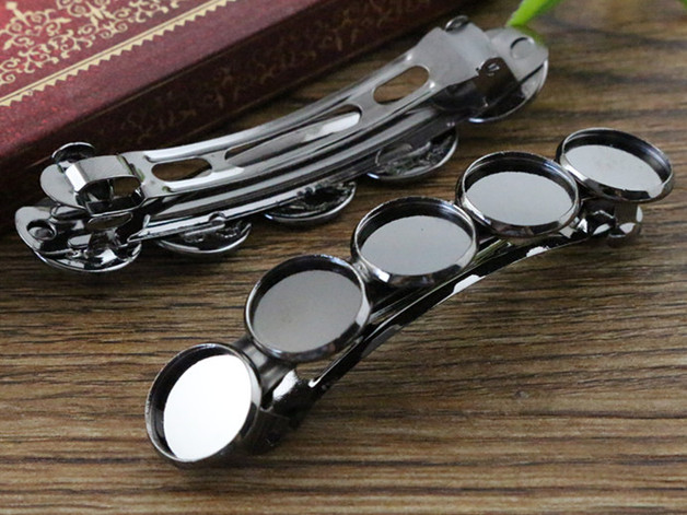5pcs 12mm with 5 cameo High Quality Gun Black Plated Copper Material Hair Clips Hairpin Base Setting Cabochon Cameo J6-35 20mm 5pcs high quality antique silver plated copper material hairpin hair clips hairpin base setting cabochon cameo j5 22
