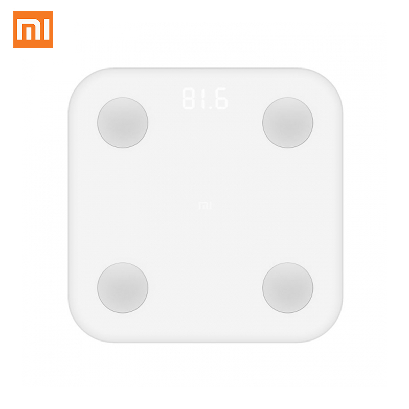 Global Xiaomi Intelligent Body Fat Scale 2 XMTZC02HM My Fit APP Body Composition Monitor Hidden LED Display and Big Feet Pad my body