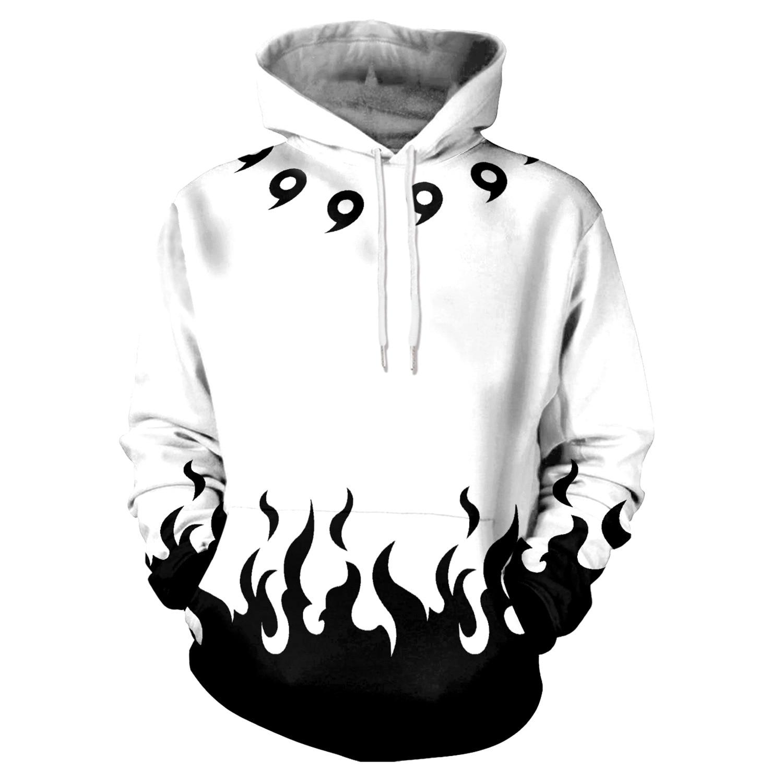 Hoodies Anime Naruto 3D Print Hoodies with Hat Men Hoodie Loose Hooded Sweatshirt Sudaderas Para Hombre Streetwear