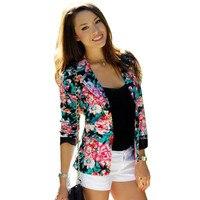 American Apparel S Women Long Sleeve Floral Slim Blazer Suit Jacket Coat Outwear Floral Femininas Slim