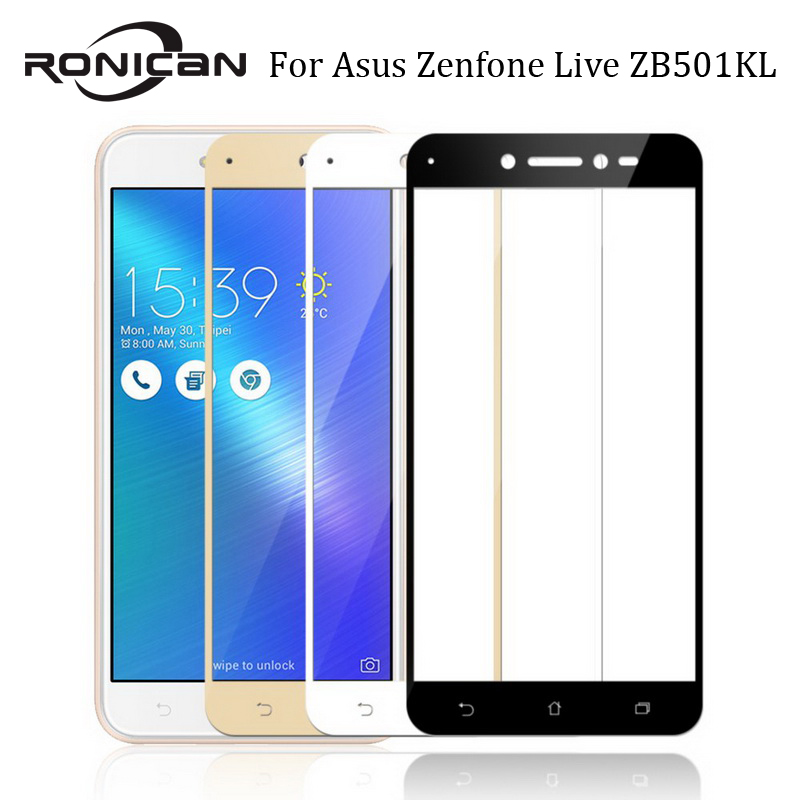 For Asus Zenfone Live ZB501KL Glass Tempered RONICAN Full Cover Protective Film Screen Protector For ZB501KL Tempered Glass Film