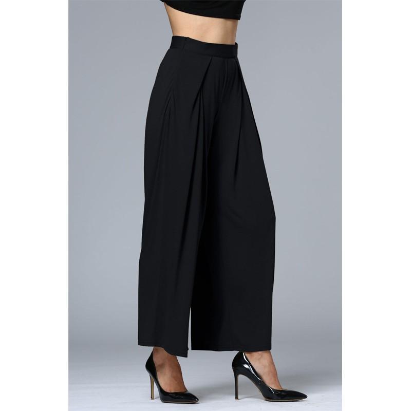 HTB1 tDQOFXXXXc5apXXq6xXFXXXj - Wide Leg Pants High Waist Long Pants Button Office Work Wear PTC 186