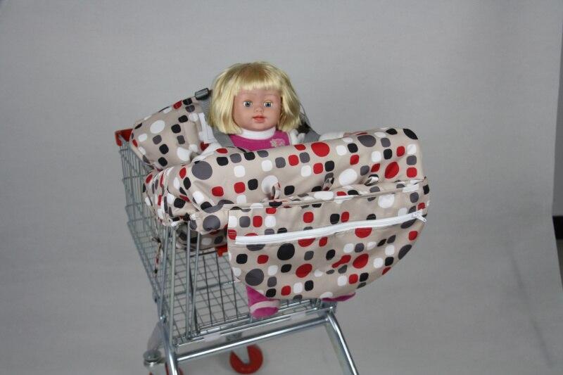2в1 двухместная детская магазинная Тележка для покупок, крышка для обеденного стула, антибактериальная Защитная Подушка, портативная - Цвет: Red