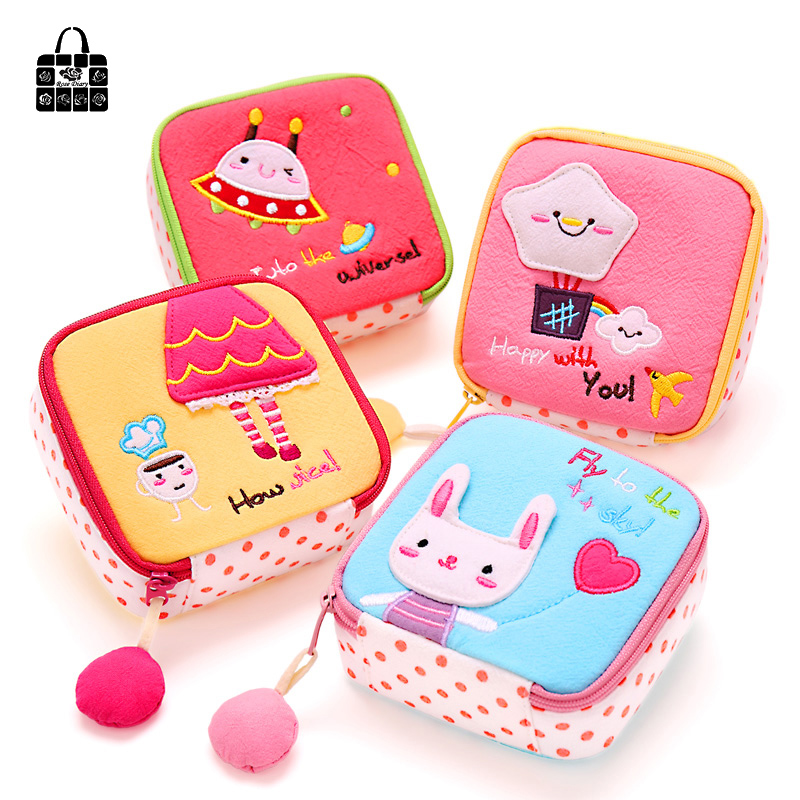 RoseDiary coin purses,lovely cartoon Cotton cloth zero wallet girl women change purse sanitary napkin pack,lady zero wallets new fashion style girl cartoon key coins zero wallet coin purses lovely children cards bag kids wallets