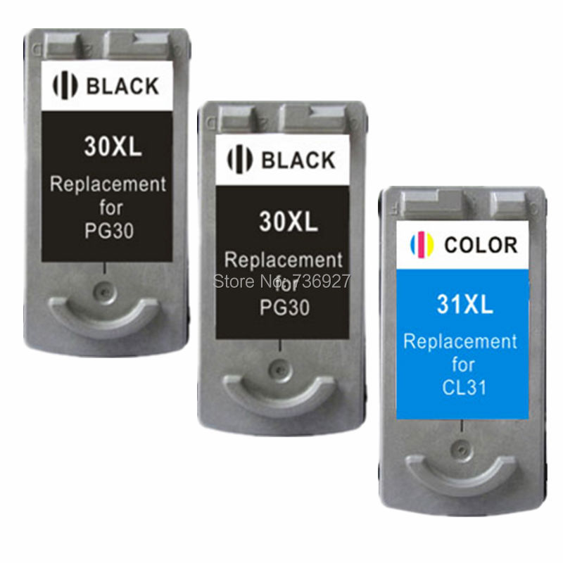 3X Remanufactured Ink Cartridge PG30 PG-30 CL-31 PG 30 CL 31 For Canon PIXMA MP140 MP470 iP1800 MX310 MP210 iP2600 printer 3x remanufactured ink cartridge pg40 cl41 pg 40 cl 41 for canon pixma ip1700 ip1800 ip1900 mp470 mp450 inkjet printer